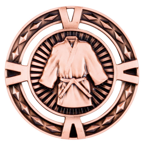 Bronze V-Tech Martial Arts Medal (size: 60mm) - MM1029B