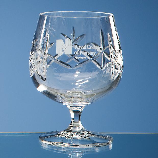 Flamenco Crystalite Panel Brandy Glass - HM65