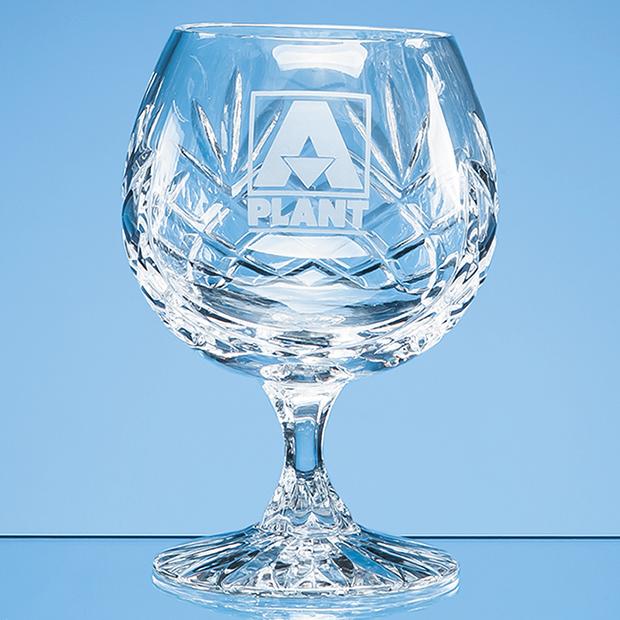 Glencoe Lead Crystal Panel Brandy Glass - LOS12