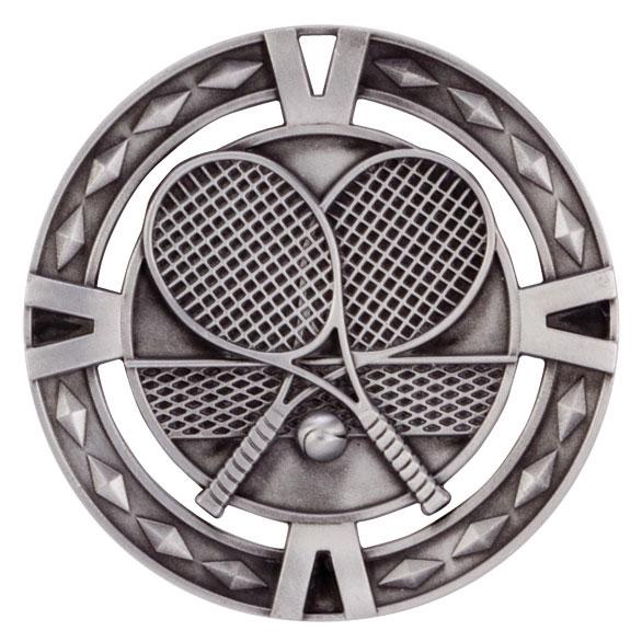Silver V-Tech Tennis Medal (size: 60mm) - MM1025S