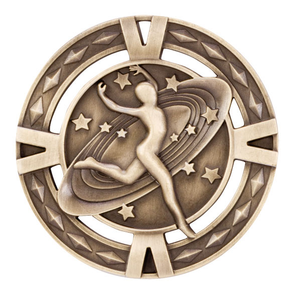 Gold V-Tech Dancing Medal (size: 60mm) - MM1031G