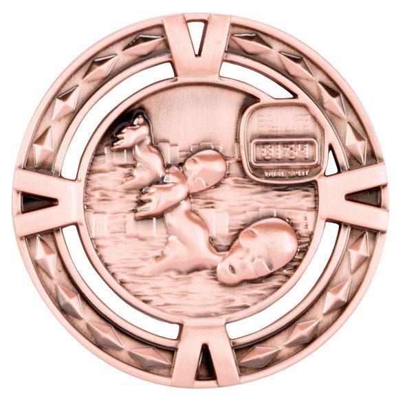 Bronze V-Tech Swimming Medal (size: 60mm) - MM1035B