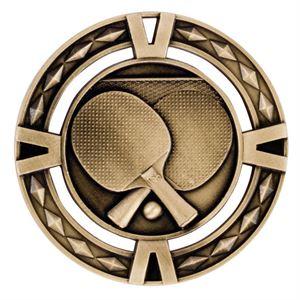 Gold V-Tech Table Tennis Medal (size: 60mm) - MM1038G