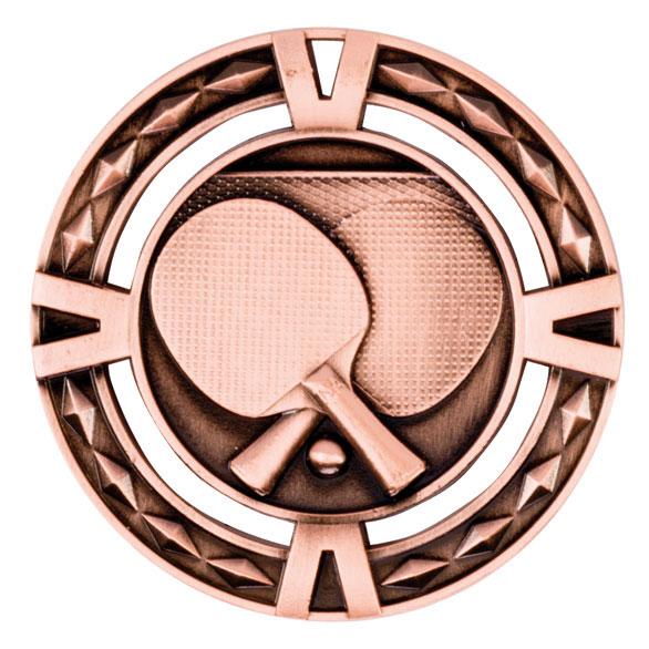 Bronze V-Tech Table Tennis Medal (size: 60mm) - MM1038B