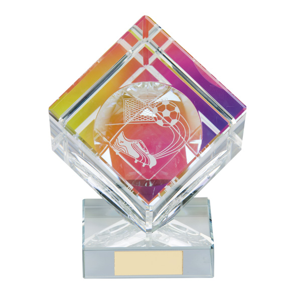 Victorious Football Cube Crystal Award - CR9232