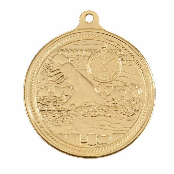 Gold Endurance Swimming Medal (size: 50mm) - MM16050G