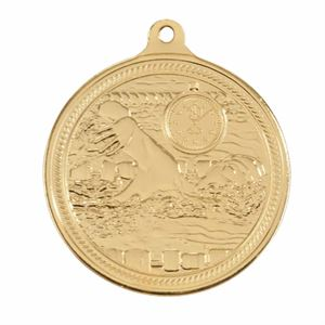 Gold Endurance Swimming Medal (size: 50mm) - MM16050G