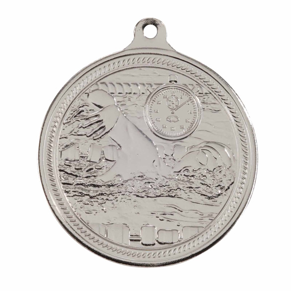 Silver Endurance Swimming Medal (size: 50mm) - MM16050S