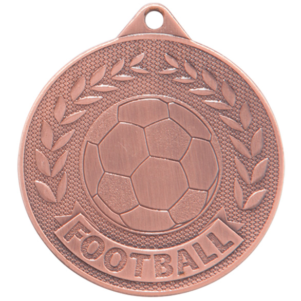 Bronze Discovery Football Medal (size: 50mm) - MM17131B