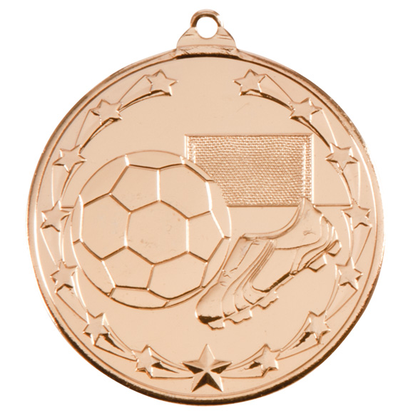 Gold Starboot Football Medal (size: 50mm) - MM1022G