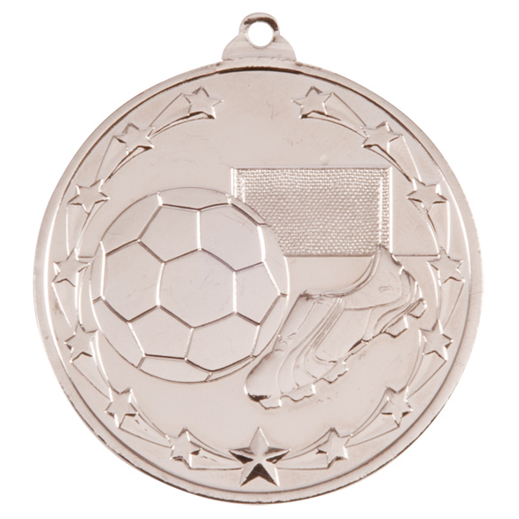 Silver Starboot Football Medal (size: 50mm) - MM1022S