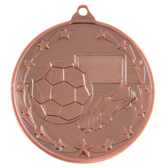 Bronze Starboot Football Medal (size: 50mm) - MM1022B