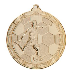 Gold Impulse Football Medal (size: 50mm) - MM2014G