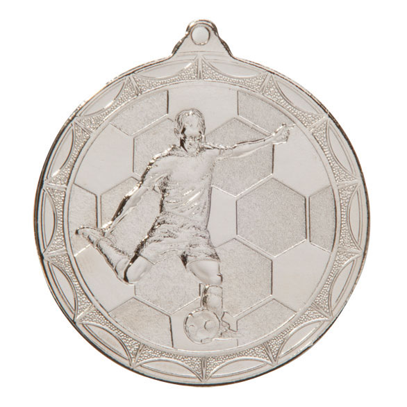 Silver Impulse Football Medal (size: 50mm) - MM2014S