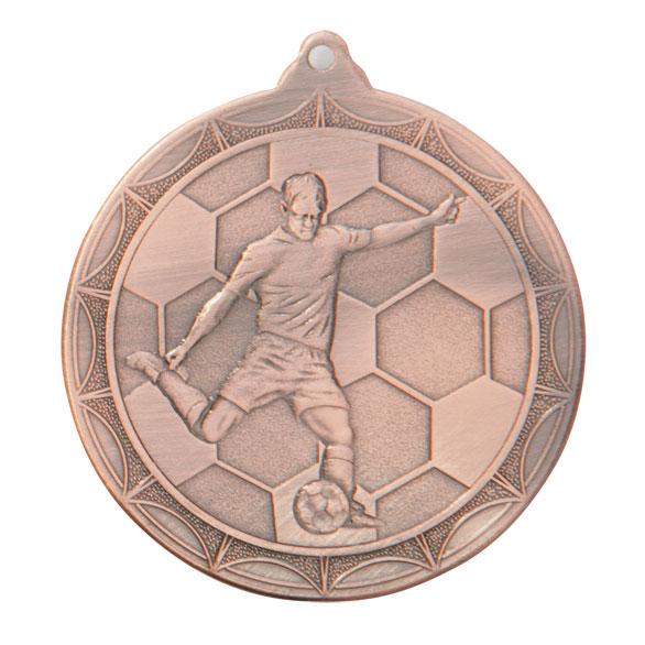 Bronze Impulse Football Medal (size: 50mm) - MM2014B