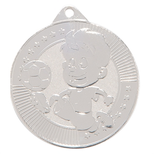 Silver Little Champion Football Medal (size: 45mm) - MM17125S