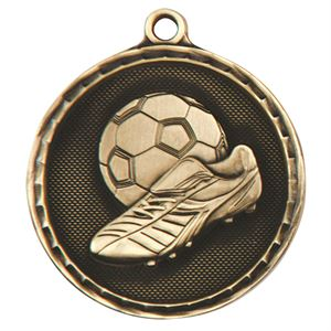 Gold Power Boot Football Medal (size: 50mm) - MM16052G