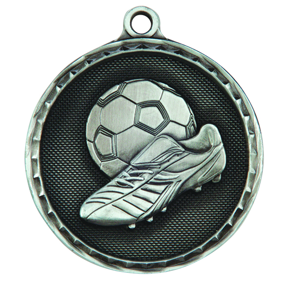 Silver Power Boot Football Medal (size: 50mm) - MM16052S