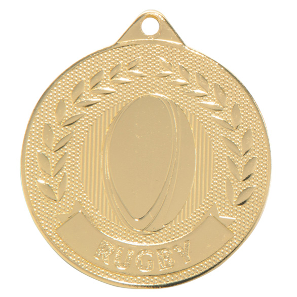 Gold Discovery Rugby Medal (size: 50mm) - MM17130G