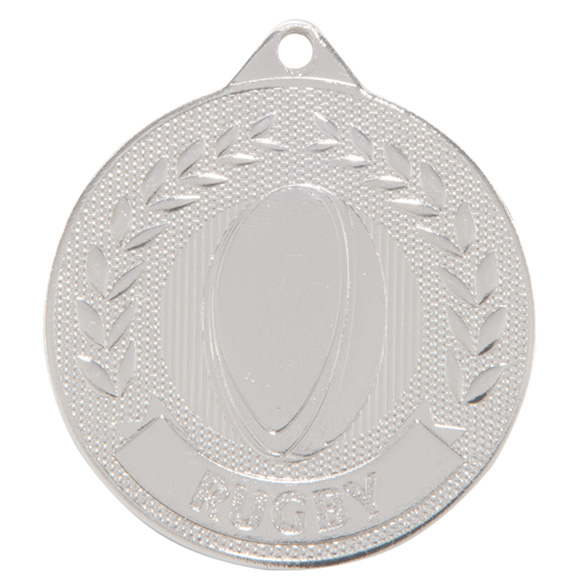 Silver Discovery Rugby Medal (size: 50mm) - MM17130S
