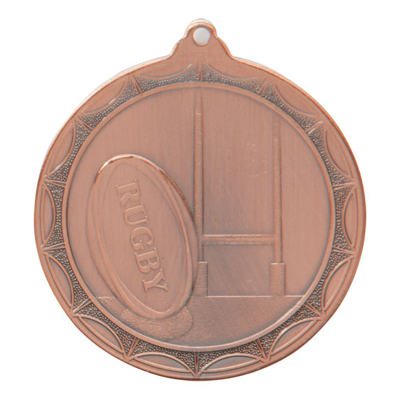 Bronze Cascade Rugby Medal (size: 50mm) - MM2016B