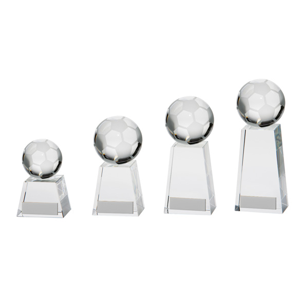 Voyager Football Crystal Award 4 sizes - CR16207