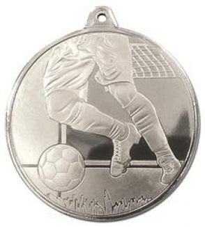 Silver Frosted Glacier Football Legs Medal (size: 50mm) - AM2000.02