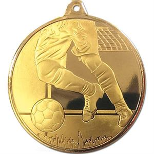 Gold Frosted Glacier Football Legs Medal (size: 50mm) - AM2000.01