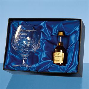 Blenheim Brandy Glass Gift Set with 5cl Bottle of Brandy - PB212