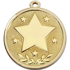 Gold Galaxy Stars Medal (size: 45mm) - AM1026.01