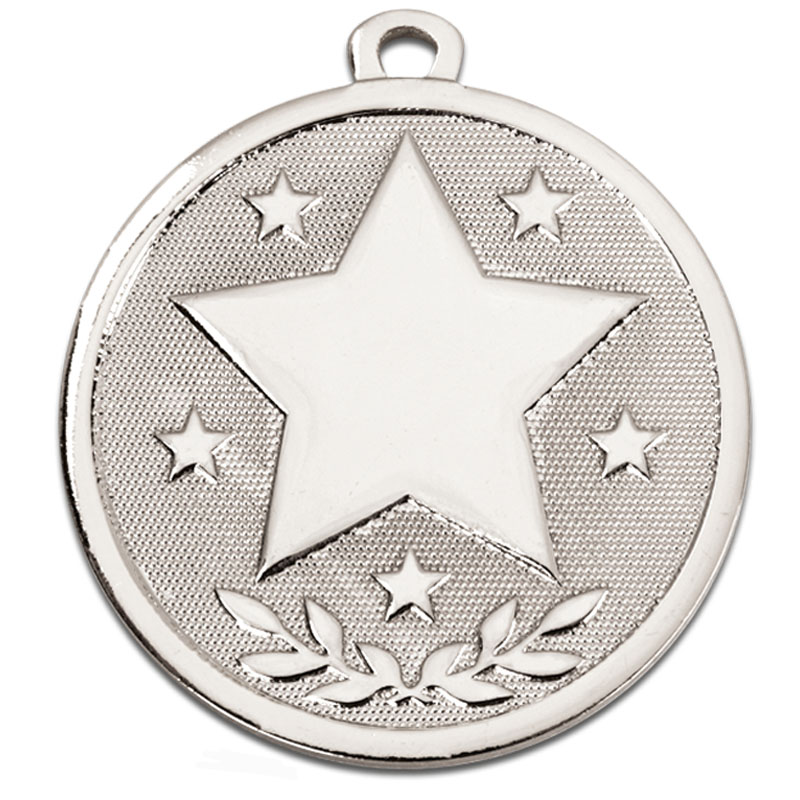 Silver Galaxy Stars Medal (size: 45mm) - AM1026.02