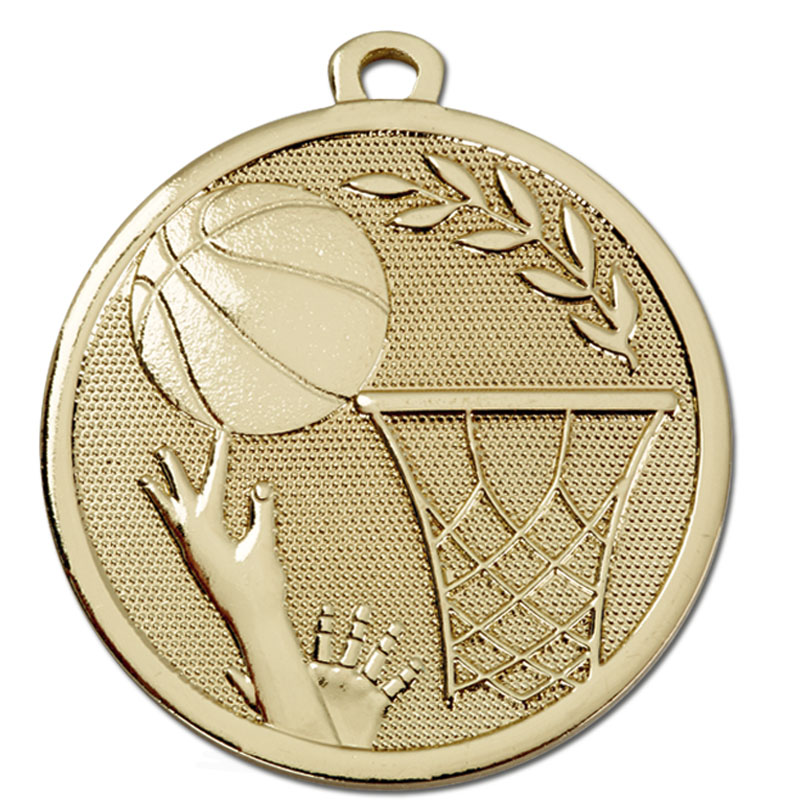 Gold Galaxy Basketball Medal (size: 45mm) - AM1034.01
