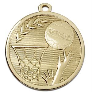 Gold Galaxy Netball Medal (size: 45mm) - AM1032.01
