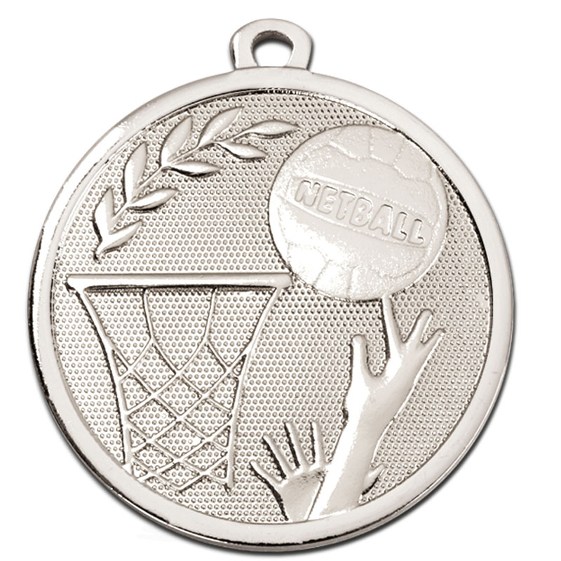 Silver Galaxy Netball Medal (size: 45mm) - AM1032.02
