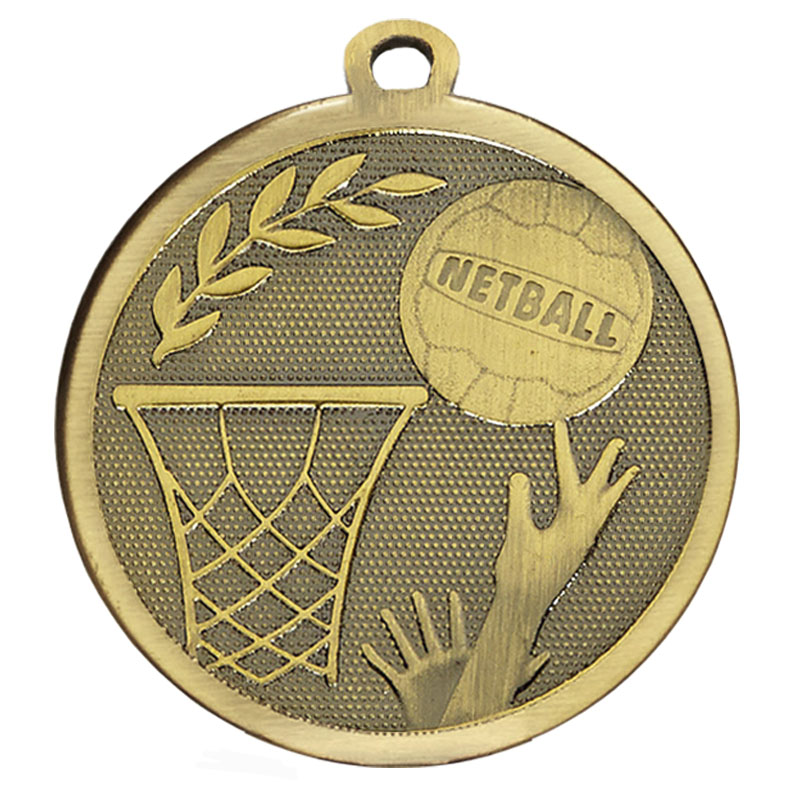 Bronze Galaxy Netball Medal (size: 45mm) - AM1032.12