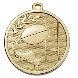 Gold Galaxy Rugby Medal (size: 45mm) - AM1033.01