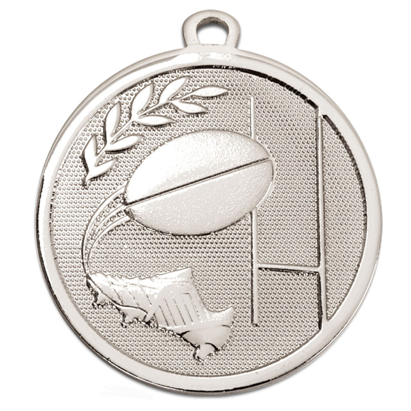 Silver Galaxy Rugby Medal (size: 45mm) - AM1033.02