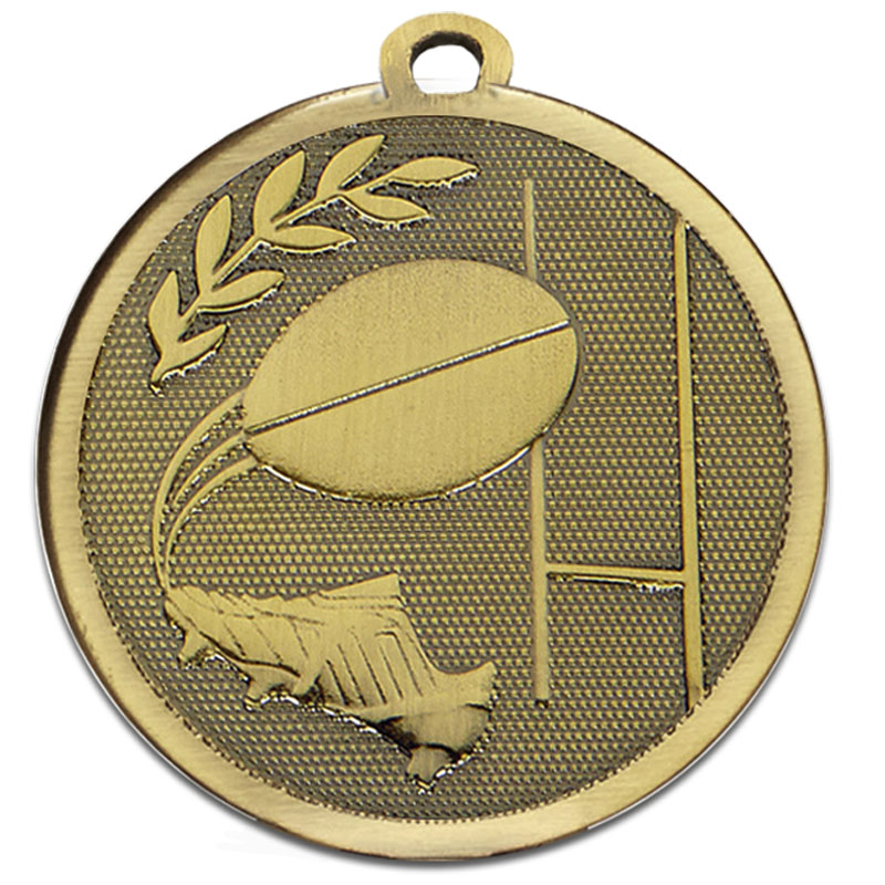 Bronze Galaxy Rugby Medal (size: 45mm) - AM1033.12