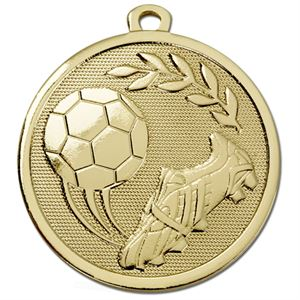 Gold Galaxy Football Boot & Ball Medal (size: 45mm) - AM1028.01