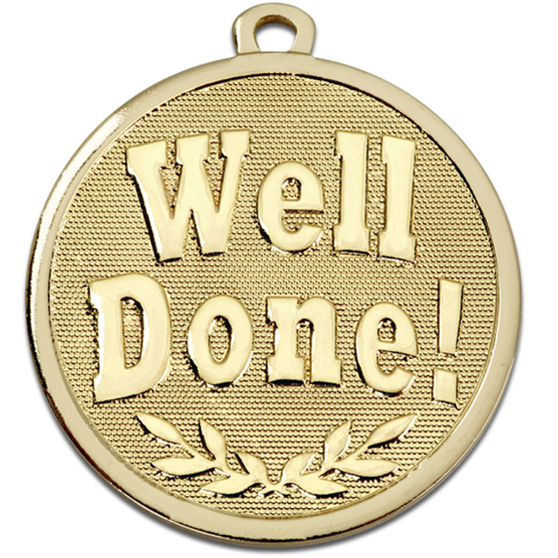 Gold Galaxy Well Done Medal (size: 45mm) - AM1025.12