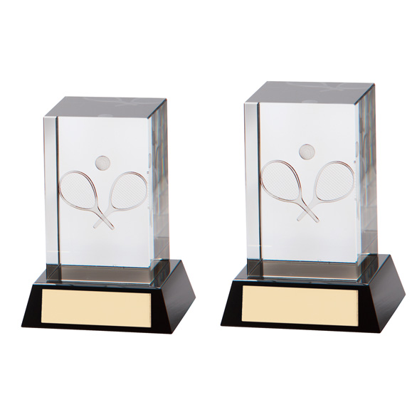 Conquest 3D Tennis Crystal Award 2 sizes - CR7192