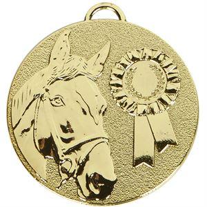 Gold Target Horse Rosette Medal (size: 50mm) - AM1047.01