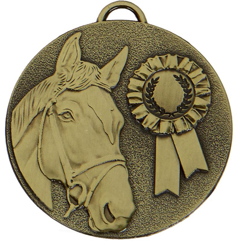 Bronze Target Horse Rosette Medal (size: 50mm) - AM1047.12