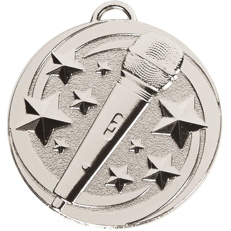 Silver Target Microphone Medal (size: 50mm) - AM1049.02