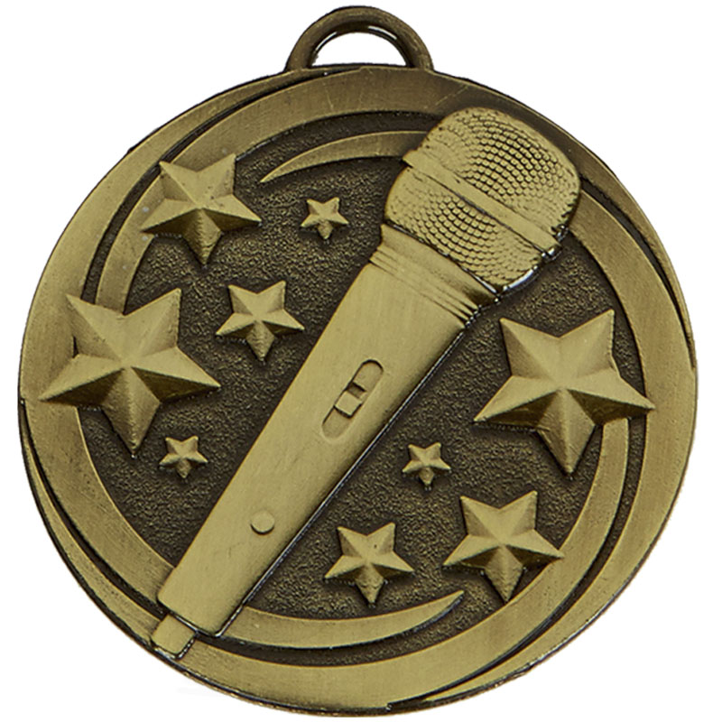 Bronze Target Microphone Medal (size: 50mm) - AM1049.12