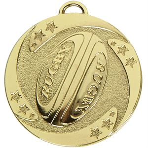 Gold Target Rugby Stars Medal (size: 50mm) - AM1040.01