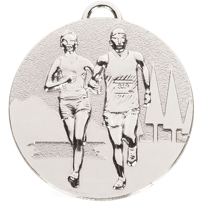 Silver Target Cross Country Medal (size: 50mm) - AM1046.02