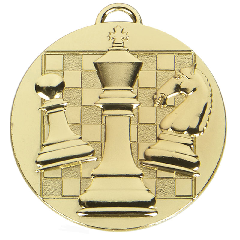 Gold Target Chess Medal (size: 50mm) - AM1044.01