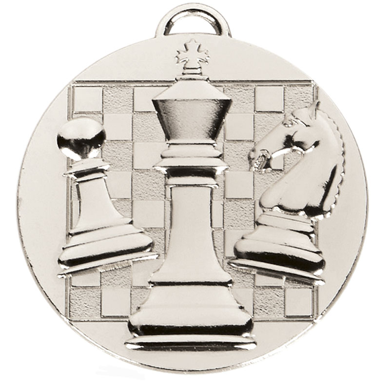 Silver Target Chess Medal (size: 50mm) - AM1044.02