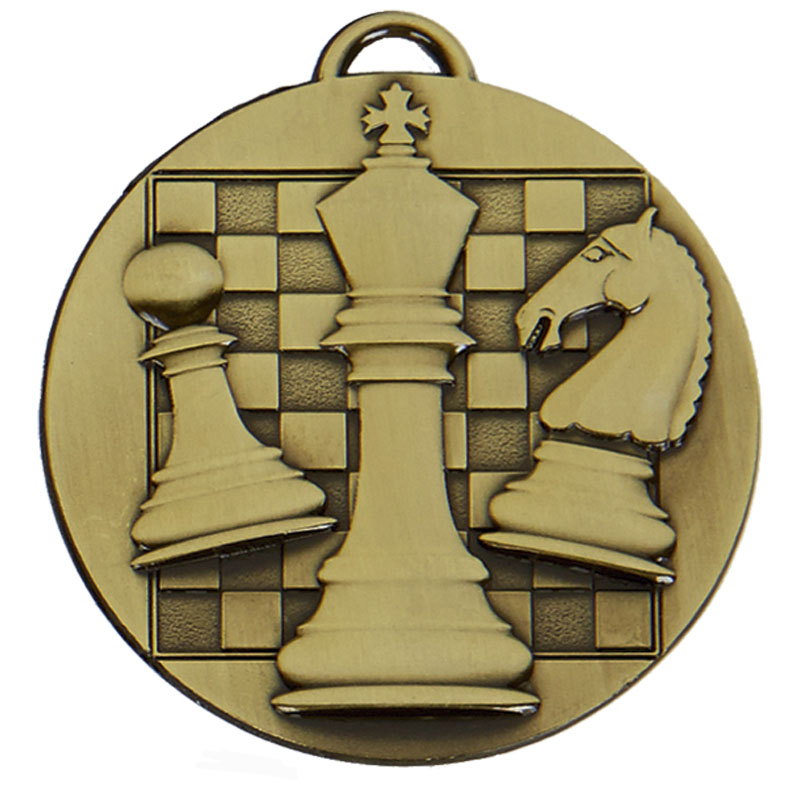 Bronze Target Chess Medal (size: 50mm) - AM1044.12